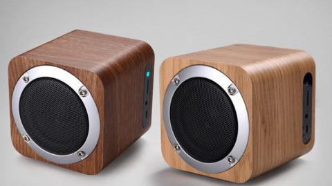 portable real wood bluetooth speaker